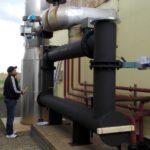 Instalace spalinového výměníku na fundamenty
