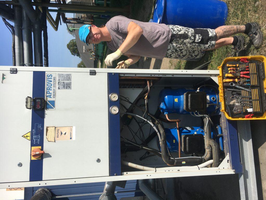 inspekce a revize úpravy, chlazení bioplynu Aprovis