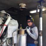 instalace oxidačního katalyzátoru TEDOM Cento T170 LIAZ do kontejneru kogenerační jednotky