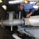 umístění katalyzátoru v kogenerační jednotce za spalinový výměník