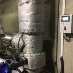 izolační žáruvzdorné deky stepmatte na spalinovém výměníku Aprovis